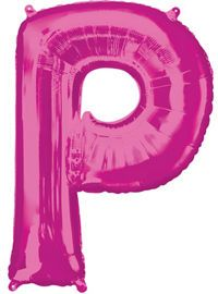 Giant Pink Letter P Ball...