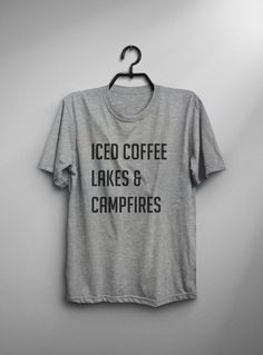 Iced coffee Lakes & Campfires • Clothes Outift for woman • teens • dates • hiking • outdoor • mountain • camping • stylish • casual • fall • spring • winter • classic • fun • cute • summer • parties • sparkle #dressforteenscasual #summeroutdoorfitness