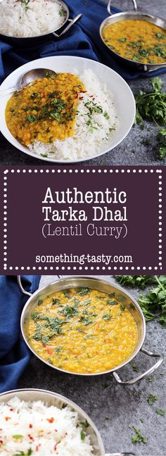 Tarka Dhal (Lentil Curry) recipe - From Something Tasty Blog.