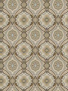 Designer Paisley Medallion fabric print in wedgewood blue multi on cotton twill on Etsy, $148.00