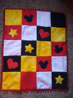 Mickey Mouse Fleece Blanket  MADE TO ORDER by PixieHollowBoutique, $50.00
