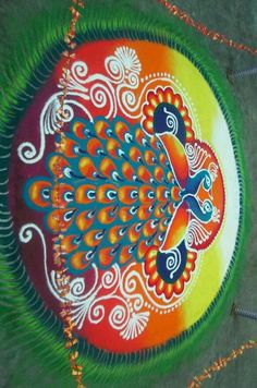 Big peacocks rangoli