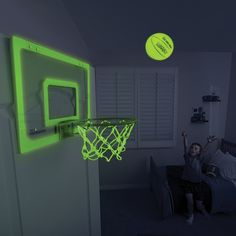 The Glow In The Dark Indoor Basketball Hoop from Hammacher Schlemmer. Shop more products from Hammacher Schlemmer on Wanelo. Basketball Tricks, Basketball Games, Basketball Players, Xavier Basketball, Basketball Court, Custom Basketball, Basketball Uniforms, Basketball Videos, Basketball Shooting
