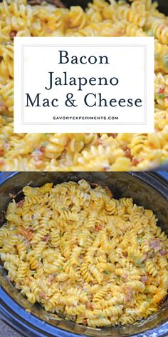 Slow Cooker Jalapeno Bacon Mac and Cheese is the BEST mac and cheese recipe made. - Crockpot Mac And Cheese Recipe - Jalapeno Bacon, Jalapeno Poppers, Stuffed Jalapenos With Bacon, Jalapeno Recipes, Best Mac N Cheese Recipe, Crockpot Mac And Cheese, Bacon Mac And Cheese, Mac Recipe, Eating Clean