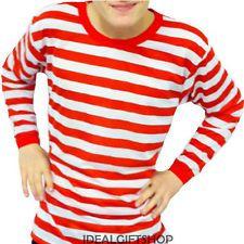 3208df103f9 Men s Long Sleeve Red   White Striped Shirt