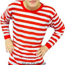 Mens Red And White Striped Shirt