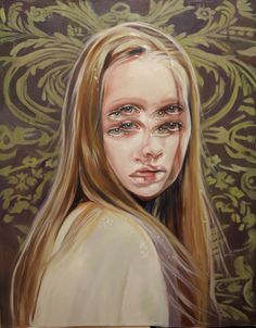 """mymodernmet: """"Gorgeously Surreal Portraits Painted by Alex Garant to Resemble Double Vision """" Alex Garant, Double Vision, Montage Photo, Amazing Paintings, Art Paintings, Oil Portrait, A Level Art, Glitch Art, Weird Art"""