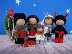 Set of dolls Ukrainian national carolers. Set of 5 dolls. The magic gift La Petite Collection, Magic, Dolls, Christmas Ornaments, Holiday Decor, Unique Jewelry, Winter, Handmade Gifts, Interior