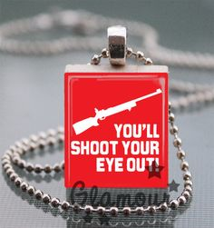 You'll Shoot Your Eye Out Christmas Story Scrabble Tile Pendant  | c0nfus3dgurl - Jewelry on ArtFire