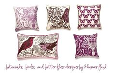 I heart these pillows from Thomas Paul.