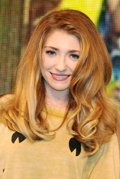 Nicola Roberts Hair Color Formula -  Natural level: 8 1) Base: 8GD (1oz) 7BC (1/2oz) Mix with: 20 volume activator (2oz) Balayage: 1 Scoop White Lightening Powder Mix with: 2 scoops 20 vol developer [CONTINUED}