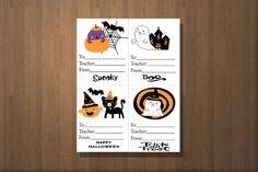 Boo Grams Boo Gram Halloween Grams Fundraising by CottageArtShoppe