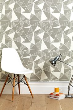 Tress Grey Wallpaper - Monument Interiors