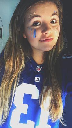 Football, face paint, Super Bowl