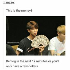 my money come in longer than a NASCAR race ~Kpop Addict ♥