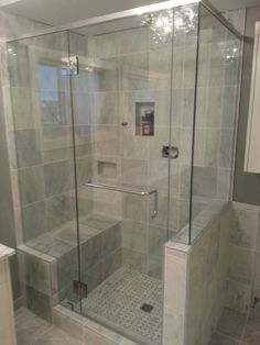 Our frameless showers are custom ordered and crafted to fit your space. Call our experts for a free, no obligation quote today!