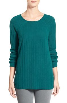 Nordstrom Collection Ribbed Cashmere Sweater