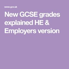 New GCSE grades explained HE & Employers version Infographic, Youth, Young Man, Information Design, Young Adults