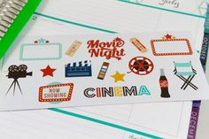 NEW Movie Night Planner Stickers perfect for by AlternateForces