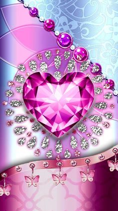 Have a look some awesome & cute look wallpaper Pink Diamond Wallpaper, Pink Glitter Wallpaper, Love Wallpaper Backgrounds, Heart Iphone Wallpaper, Bling Wallpaper, Flower Phone Wallpaper, Luxury Wallpaper, Butterfly Wallpaper, Cellphone Wallpaper