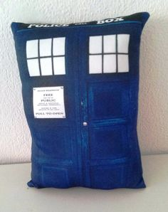 TARDIS Doctor Who. pillow  26x18 cm by Morondanga on Etsy