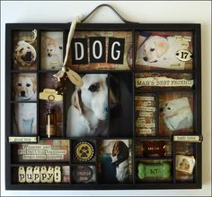 Wall Art Contest finalists sponsored by Archiver's Wall Art Contest. - Wall Art Contest finalists sponsored by Archiver's Wall Art Contest finalists sponso - Dog Shadow Box, Yoshi, Maila, Dog Crafts, After Life, Pet Loss, Decoupage, Dog Memorial, Pet Memorials