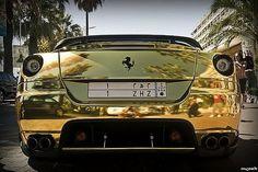Golden Ferrari 599 GTB