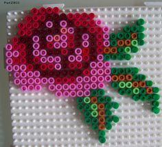 Rose Bügelperlen hama perler beads