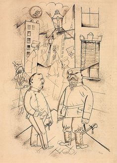 "George Grosz - ""Pimps of Death""漫画 Fluxus Art, George Grosz, Degenerate Art, Ben Shahn, Berlin, Art Students League, Artist Sketchbook, Jewish Art, Art For Art Sake"