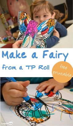 Easy Activities for Toddlers: Make a Fairy from a Toilet Paper Roll printalbe craft activity