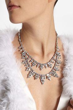 Ben-Amun Silver-plated Swarovski crystal necklace NET-A-PORTER.COM