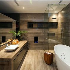 Timber Vanity In Timber Veneer Bathroom Ch House Glr Arquitectos
