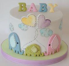 Elephant Baby Shower - by ShereensCakes @ CakesDecor.com - cake decorating website