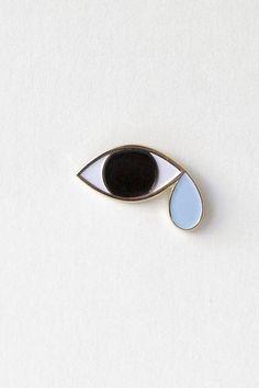 H.K.M.  Tristan's Tears Enamel Lapel Pin - http://www.hkm.nyc
