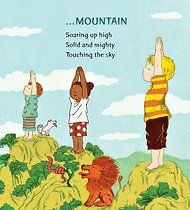 A children's book about peace and harmony using yoga poses..I looked up good boods to use with a group..