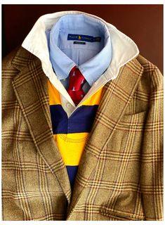 Ivy League Style, Mens Rugby Shirts, Polo T Shirts, Der Gentleman, Gentleman Style, Preppy Mens Fashion, Fashion Fall, Estilo Ivy, Preppy Mode
