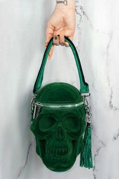 Unique Handbags, Unique Purses, Unique Bags, Trendy Handbags, Cute Handbags, Beserk Clothing, Skull Purse, Unique Backpacks, Creative Bag