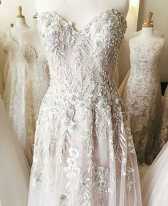 A-line gown with sparkle under layer and beading detail around bodice and down waist. 2 Piece Wedding Dress, Princess Style Wedding Dresses, Making A Wedding Dress, Luxury Wedding Dress, Wedding Dresses Photos, Wedding Dress Shopping, Princess Wedding, Dream Wedding Dresses, Designer Wedding Dresses