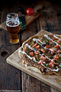 beer carnitas pizza.