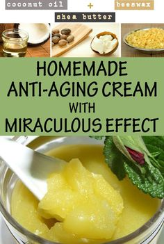 Learn how to make a homemade anti-aging cream Good morning son. How is… http://anti-aging-secrets.us