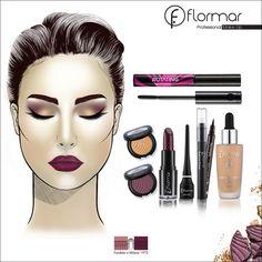 www.flormar.com / maquillaje de otoño Makeup Inspiration, Makeup Ideas, Yves Rocher, Halloween Face Makeup, Skincare, Make Up, Hairstyle, Beauty, Fall Makeup