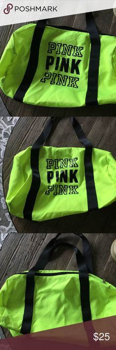VS PINK Duffel NWOT...cute, quick easy Duffel to carry whatever you want to carry. PINK Victoria's Secret Bags Totes