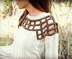 Trash To Couture: DIY Embellished Sweater - this would be great with Steampunk embellishments