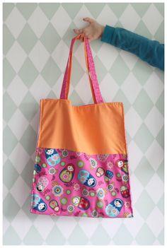 DIY tote bag - katoenen tasje - naaiproject voor beginners