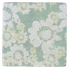 Shop Wacky White Floral Surprise with sea-green Stone Coaster created by Daphne_Jocelyn_Lull. Personalize it with photos & text or purchase as is! Stone Coasters, Green Stone, Close To My Heart, Wedding Color Schemes, Hostess Gifts, Floral Flowers, House Warming, Print Design, Vintage World Maps