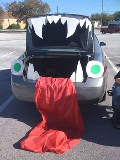 trunk treat monster mouth trunk or treat decorations