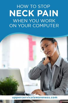 "Correcting our posture when working is important. As the saying goes– ""Prevention is better than cure."" Upper Cervical Chiropractic, Chiropractic Care, Neck Injury, Stiff Neck, Physical Stress, Neck Pain Relief, Muscle Strain, Neck And Back Pain, Bad Posture"