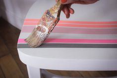 DIY how to customize a chair ? - Comment customiser une chaise en masking tape ? / #maskingtape