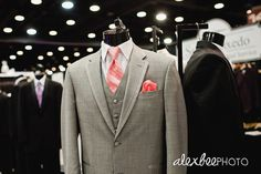 Or should it be a full suit?..again red tie and red pocket square