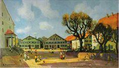 Stanislav Fomenok - Weiler im Allgäu Painting, Art, Kunst, Art Background, Painting Art, Paintings, Performing Arts, Painted Canvas, Drawings